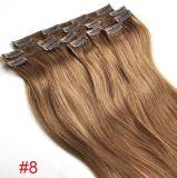 Extensão do cabelo do grampo de cabelo humano de Remy