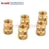 Les Doubles-Twilled moletages Chaud-Fondent la noix en laiton de garniture intérieure pour le Quart-Type thermoplastique