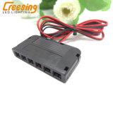 발 스위치와 3가지의 방법 접속점 상자를 가진 DC12V LED 전력 공급