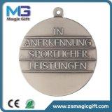 Médaille personnalisée de sport d'école en métal avec de l'argent antique terminé