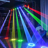 Laser principal movente do RGB da cor cheia da animação 4W do disco do DJ