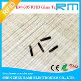 생물 유리 Em4305/Ntag216 RFID 동물성 마이크로 칩 NFC RFID 유리 꼬리표