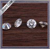 형식 금 보석을%s 원형 5mm 화려한 백색 합성 Moissanite 다이아몬드