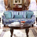 Sofà classico americano del tessuto impostato per il salone