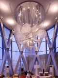 De zachte Lamp van de Kroonluchter van het Kristal van het Project van de Gang van de Vorm van de Bloem van de Luxe van het Ontwerp (KA1027)