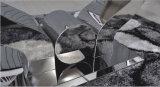 A8035標準的なダイニングテーブル。 ステンレス鋼のフィートが付いている緩和されたガラスのダイニングテーブル