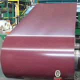 Le PE de matière première de matériau de construction a peint la bobine en acier galvanisée enduite par zinc