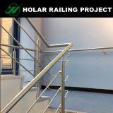 Barandilla moderna del acero inoxidable de la escalera del cable de Inox del pasamano de la escalera del diseño del balaustre de la terraza