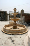 Fontaine de marbre beige à trois niveaux (SY-F017)