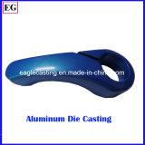 アルミニウム部品の青い陽極酸化のAutomotion装置のカスタム部品はダイカストの農産物を