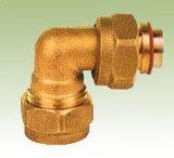 Montaggio di gomito d'ottone di compressione di vendita calda di alta qualità con il certificato di Wras