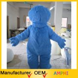 Adulto personalizado Blue Elmo Monster Character Mascot Costume