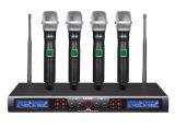 Ls-960 goede Kwaliteit 4 de UHF Draadloze Microfoon van Kanalen