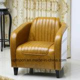 (SP-KS390) 호텔을%s 현대 브라운 가죽 팔 의자 로비