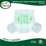 Bande élevée de Velcro de couche de vente en gros de qualité d'absorption de couche-culotte d'OEM de dossier d'usine adulte de fournisseur