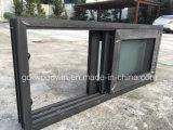 Окно Tempered стекла двойника цены по прейскуранту завода-изготовителя Woodwin алюминиевое сползая