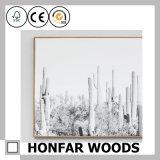 벽 예술 훈장을%s 자연적인 단단한 나무 그림 사진 프레임