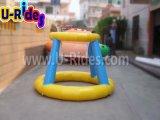 0.9mm PVC Inflable baloncesto disparar para el Parque Acuático