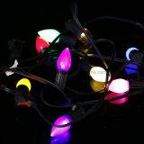 Bulbo E12/E26/27 do Natal do diodo emissor de luz de C7C9 RGB com luz decorativa do pixel ao ar livre de controle remoto