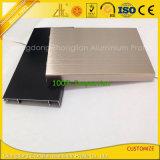 Ligne en aluminium de brossage multicolore de coin d'extrusion avec des composants
