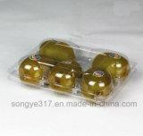 Rectángulo disponible del empaquetado plástico del rectángulo transparente de la fruta del rectángulo plástico del kiwi del animal doméstico