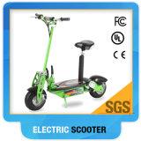 Scooter eléctrico verde 01 con la cesta Trottinette 800W
