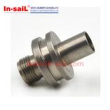 CNC de aço inoxidável girando o conector redondo do tubo