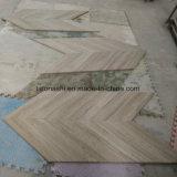 Hellgraue hölzerne Marmorplatten für Fußboden und Wand