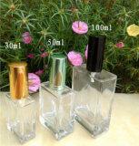 bouteille de parfum 30ml en verre carrée transparente