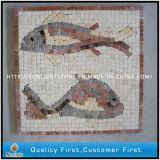 Mischmarmor-u. Travertin-Steinmosaik-Medaillon-Bodenbelag für Hauptdekoration