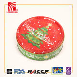 Galletas y galletas del árbol de navidad del regalo de día de fiesta en producto del estaño