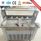 Carter d'approvisionnement d'usine le double a fait frire la vente de machine de roulis de crême glacée