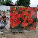 Fabricante de la bandera del acoplamiento de la impresión que hace publicidad de la bandera de la cerca del PVC