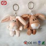 Brinquedo das crianças do presente de Keychain do luxuoso do urso branco e do lobo cinzento