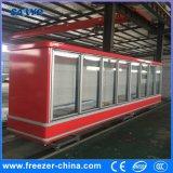 Ventilador que refresca el refrigerador de cristal vertical de la puerta de 2000L el 12FT para el colmado