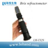 Оптовый ручной рефрактометр метра Brix пластичного материала 0-32% (LH-T32S)