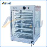 Étalage de chauffage en verre incurvé par Dh827 de matériel d'aliments de préparation rapide