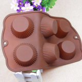 Легк-к-Храньте прессформа пирожня лотка булочки Bakeware 6cavities силикона качества еды