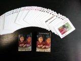 Caras de las tarjetas que juegan del póker de Nepal