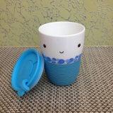 Кофейная чашка кружки шаржа творческая керамическая с втулкой с крышкой