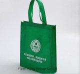 Sacchetto di Tote non tessuto di verde con stampa personalizzata