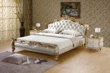 [إيتلين] أسلوب [سليد ووود] غرفة نوم أثاث لازم [جنوين لثر] سرير