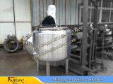 El tanque de mezcla vestido del vapor con la envuelta exterior calefactora de la media bobina del tubo para el vapor