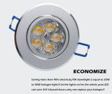 Vertiefte Schrank-Wand-Punkt-heller Abstieg-Lampen-kaltes/warmes Weiß