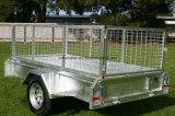 remorque lourde du cadre 7X4 avec la cage
