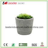 Met de hand gemaakte Cement Planter met kunstmatig-Succulent voor Home en Garden Decoration, OEM Are Welcome