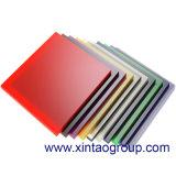 Plexiglás de acrílico claro sacado colorido/hoja de acrílico curvada de la hoja PMMA
