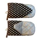 Первоначально многоточия хлопка напечатали перчатки печи домочадца &Baking