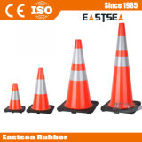 Cône flexible orange/jaune de sécurité routière de PVC de vert de limette