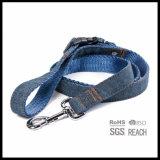 guinzaglio blu del cane di animale domestico del denim durevole dei jeans 2ply con la maniglia staccabile